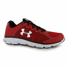 Under Armour Micro Assert 6 Nylon Running Shoes Mens Red/Black Trainers Sneakers