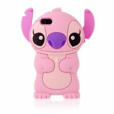 Pink Lilo & Stitch 3D Cute Cartoon Soft Silicon Case Cover Skin for iPhone iPod