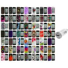 Design Color Hard Snap-On Skin Case Accessory+USB Charger for iPhone 4 4G 4S