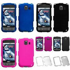 Blue/Black/Pink/Clear/Smoke Rubber Hard Case Cover For LG LS670 Optimus U VM670