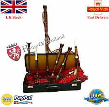 New Scottish Bagpipe Plain Rosewood Royal Stewart Cover/Great Highland Bagpipes