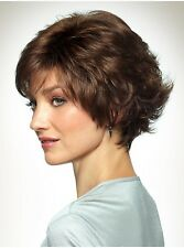 Bobbi by Revlon FREE 4 PC KIT Short Textured Tousled Synthetic Wig Wispy Bangs