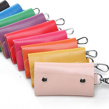 Fashion Unisex PU Leather Key Chain Accessory Pouch Bag Wallet Case Key Holder
