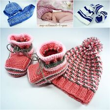 First Facilities Baby Shoes Baby Shoes Hat Knit Scarf Handarbeit