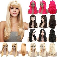 Elegant Women Long Curly Straight Full Head Wigs Cosplay Party Daily Fancy Dress