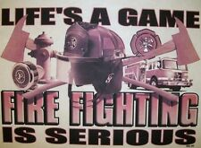 Firefighter Hoodie Lifes A Game Fire Fighting Is Serious EMS Volunteer Paramedic