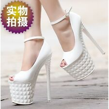 women Super-High Heel Platform Shoes sexy boots sandals, US3.5-8.5(EUR34-39)SA53