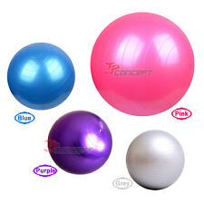 "26"" / 65cm  Blue Fitness Yoga Exercise Ball Balance Stability Anti-Burst Ball"