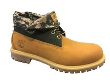 Timberland A119S Mens size Roll Top Boots Wheat Camo Leather Rolltop Shoes