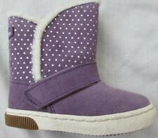 STRIDE RITE toddler girls size 7 purple Dixie suede boots fleece lined NEW