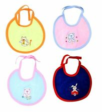 Newborn Baby soft & comfortable Cotton Bib Pack of 4 (0-12 Months) Girls & Boys