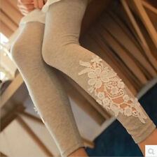 Autumn fashion outer wear foot mouth lace leggings pants female tide
