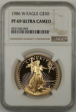1986-W $50 American Gold Eagle Coin AGE NGC PF-69 Ultra Cameo