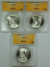 1925 Peace Silver Dollar ANACS MS-62 From Lot(Very Choice) *Read Description AKR
