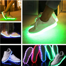 New LED Light Lace Up Unisex Sportswear Sneaker Luminous Shoes Casual Fashion