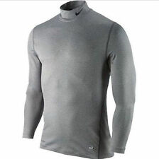 Nike 811794 091 Men's Pro Combat Fitted Long Sleeve Golf Mock Neck New With Tags