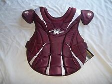 EASTON SYNERGY FASTPITCH SOFTBALL  CHEST PROTECTOR-MAROON ONLY