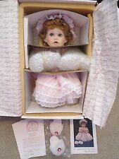 "Charity Sweet Dreams DOLL World Gallery Porcelain 15"" #2518/5000 Limited Ed NIB"
