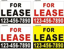 3ftX4ft Custom Printed FOR LEASE Banner Sign with Your Phone Number