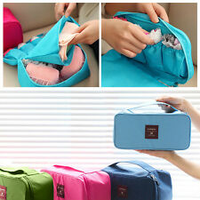 Portable Travel Luggage Organizer Underwear Socks Cube Pouch Zipper Storage Bag