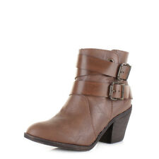 Womens Ladies Blowfish Sworn Coffee Old Saddle Brown Heeled Ankle Boots Sz Size