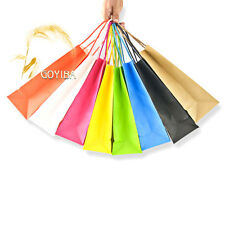 100 PCS Kraft Paper Gift Bags with Handle Shopping Party Supply Custom Wholesale