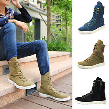 Fashion Mens Casual Canvas Shoes Comfort High Top Boot Shoeslace Ankel Boots