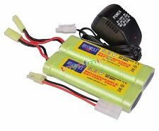 2x 9.6V NiMH 2800mAh Rechargeable Battery Pack For RC Airsoft + Charger