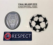 2016 UEFA Champions League Final patch kit- Real Madrid FC jersey 2015-16