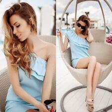 Summer Sexy Women One Shoulder Bodycon Evening Cocktail Party Casual Short Dress