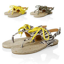 NEW Only Ladies Flip-flop sandals Toe post Mules Summer Shoes Flat shoes %