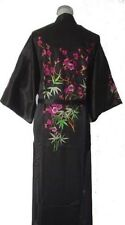 Chinese Women's silk embroidery Kimono Robe Gown sleepwear Sz: M L XL XXL