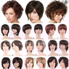 US Women Ladies Sexy Boycut Full Wig Heat Resistant Synthetic Hair Costume Wigs