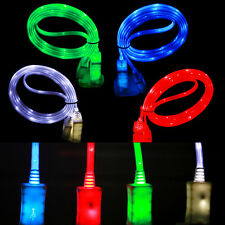 New LED Light Micro USB Quick Charge Cord Data Sync Cable For Android Phones Lot