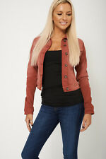 LADIES WOMENS HIGH QUALITY RED FADED DENIM WAIST JACKET 12 14 16 18 20 RRP £40