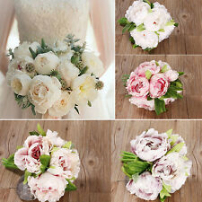 1 Bouquet Artificial Peony Silk Flowers Hydrangea Wedding Bridal Party Decor DIY