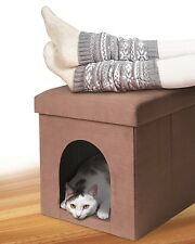 2in1 Pet Ottoman Folding Microfiber Couch Chair Dog Cat House Bed Fold Comfort
