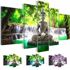 5Pcs Unframed Canvas Prints Picture Buddha Buddhism Worship Art Home Wall Decor