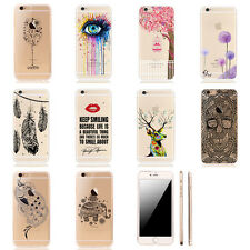 New Pattern Crystal Soft Silicone TPU Case Cover For iPhone 5 5S SE 6 6S Plus