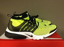 Nike Air Presto Flyknit Ultra VOLT/BLACK-WHITE Running Shoes Sneakers 835570-701