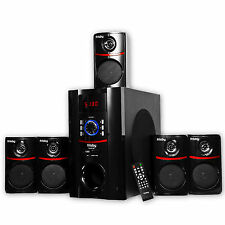 Bluetooth 800 Watt Surround Sound 5.1 Speaker System Laptop PC Home Audio USB SD