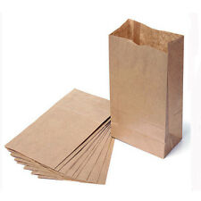 10/20x Small Kraft Paper Gift Bags Vintage Wedding Treat Brown Paper Bags New