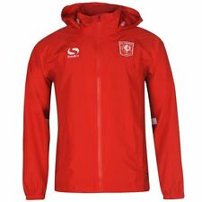Sondico Mens Gents FC Twente Rain Jacket Football Zipped Overcoat Clothing