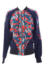REBECCA MINKOFF Women's Mars Graphic Silk Zip Up Nolan Jacket $328 NWT