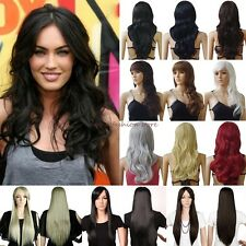 Wholesale Wigs Long Curly Straight Cosplay Costume Party Daily Fancy Dress Black