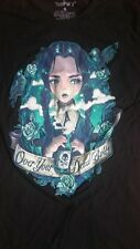 Tee Fury Ladies Black Wednesday Addams T-Shirt Size Small