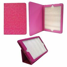 HOT PINK DIAMOND BLING GLITTER PU LEATHER CASE COVER FOR APPLE IPAD AIR