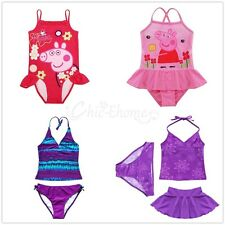 Girls Kids Peppa Pig One-Piece Swimwear Bikini Tankini Swimsuit Swimming Costume