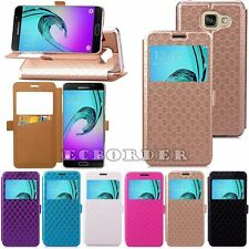 Slim ! PU Leather Wallet Cover Flip Phone Case Cover For Samsung & iPhone Models