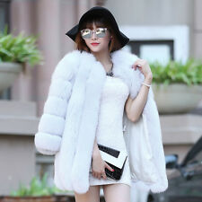 100% Genuine Real Fox Fur Coat Jacket Women Warm Winter Lady Thick Jacket C0011